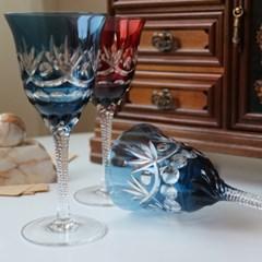 크리스탈 조각 와인잔
