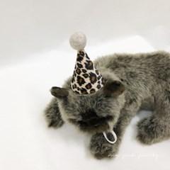 핸드메이드 고양이 네오파드 고깔모자 강아지 생일 모자