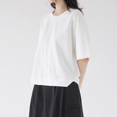 half sleeve round t-shirt (3colors)_(1378017)