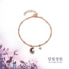 OST 청금석 초승달 달빛정원 드롭 실버 팔찌(OTB119V02OPB)