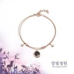 OST 청금석 보름달 달빛정원 원터치 실버 팔찌(OTB119V01OPB)