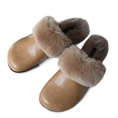 kami et muse Round toe fur slippers_KM19w121