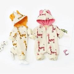 돌핀웨일 룰루기린 후드집업겨울우주복(66~90cm)