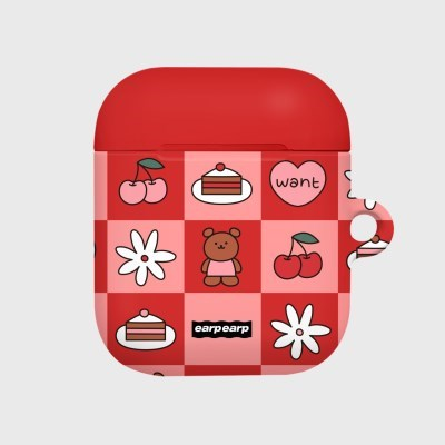 Check kids bear-red(Hard air pods)_(1369735)