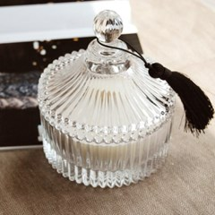 ANTIQUE GLASS CANISTER (LARGE) 소이캔들