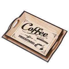 YX581 커피 이니셜 트레이 2종(소,대)