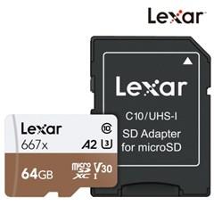 [렉사] 공식판매원 microSD카드 667배속 UHS-Ⅰ급 64GB_(987496)