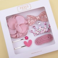 플라워 핑크 헤어핀 선물세트(6P)