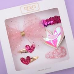 핑크파티 헤어핀 선물세트(6P)