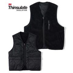 3M Thinsulate Reversible Boa Fleece Vest Black