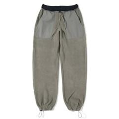 Fleece Loose Jogger Pants Stone Gray