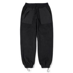 Fleece Loose Jogger Pants Black
