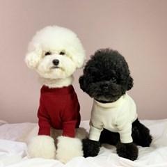 러블리댕댕 강아지 골지 니트 티셔츠