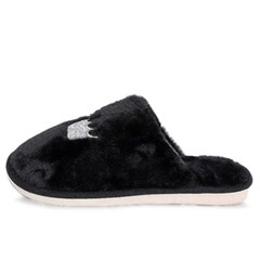 kami et muse Crown embroidery fur slippers_KM19w128