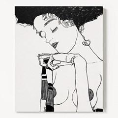 캔버스 명화 누드 드로잉 그림 천 액자 에곤 쉴레 no.16