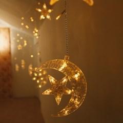 달 별 커튼 LED전구 3m USB-크리스마스 장식 소품_(100849538)