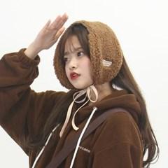 [체리콘] 보드라운 귀도리&목도리 - 브라운