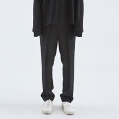 LOOSE LONG WIDE SLACKS_BLACK