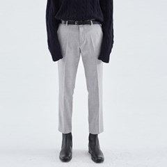 SIMPLE STRAIGHT SLACKS_GRAY