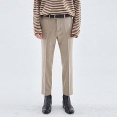 MINIMAL STRAIGHT FIT SLACKS_BEIGE