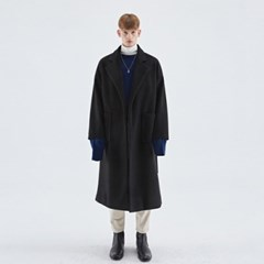 OVERSIZED ROBE LONG COAT_BLACK