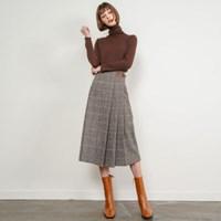 Matilda Check Wool Skirt_(34176)