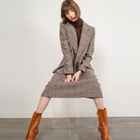 Matilda Check Wool Jacket_(34175)