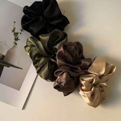 [4 color] 실크 베이직 헤어끈 머리 곱창