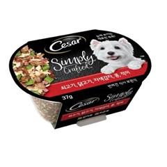 시저 심플리 크래프티드-쇠고기,닭고기,자색감자,콩,적미/주식캔