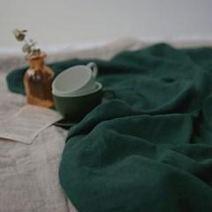 [Fabric] 백마포 모스 그린 100% 퓨어린넨 캔버스