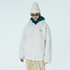 Original embroidery fleece jacket-ivory_(1376628)