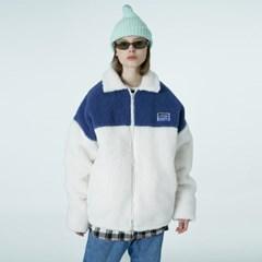 Square patch fleece jacket-ivory_(1376625)