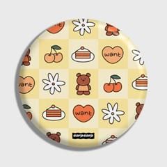Check kids bear-yellow(거울)_(1371396)