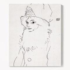 캔버스 명화 그림 드로잉 감성 액자 에곤 쉴레 no.31