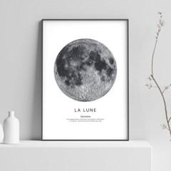 달 액자 인테리어 그림 포스터