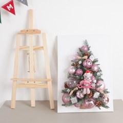 산타곰 캔버스 트리 70cmP(이젤증정) 크리스마스 미니_(1596950)