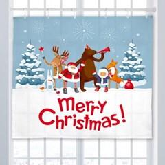 거실액자 가리개 커튼 150x130cm 크리스마스프렌즈_(1394703)