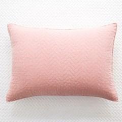 지그재그 60수워싱 핑크 베개커버