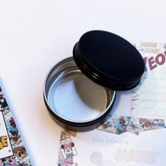 갓샵 원형 틴케이스 [블랙 80ml 6.8x3.5cm] 철제 알루미늄 캔