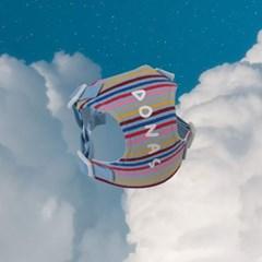 [이름 각인] Rainbow stripe harness (sky blue)
