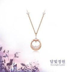 OST 우유빛 초승달 달빛정원 실버 목걸이(OTS319V03MPI)