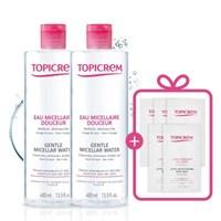 토피크렘 1+1(젠틀 미셀라 워터400ml+400ml)/바디로션7ml(5매)증정