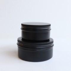 갓샵 원형 틴케이스 [블랙 150ml 8.3x3.8cm] 철제 알루미늄 틴 캔