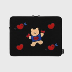Bear heart-13inch notebook pouch(13노트북 파우치)