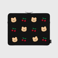 Dot cherry bear-13inch notebook pouch