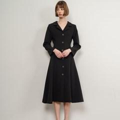 Paisley Pearl Button Dress_Black_(35904)