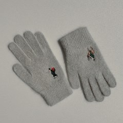 Christmas in Joseon gloves (wool)(grey)