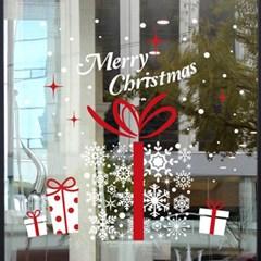 크리스마스 시트지 눈꽃 스티커 19CMJS5250_(992257)
