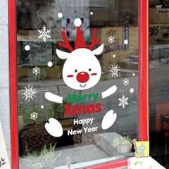 크리스마스 시트지 눈꽃 스티커 19CMJS5251_(992256)