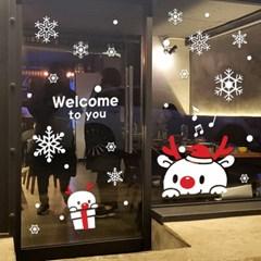 크리스마스 시트지 눈꽃 스티커 19CMJS5254_(992253)